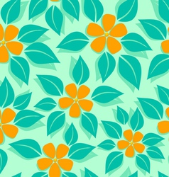 tropical pattern orange vector image
