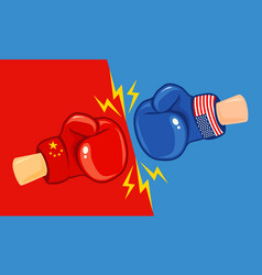 Usa vs china trade war vector