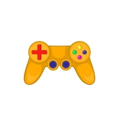Video game controller icon in cartoon style vector image