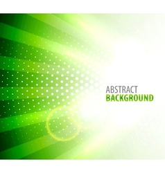 White light on green background vector image