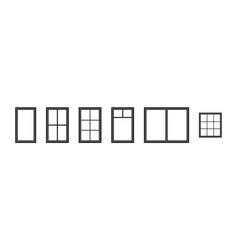 window frame silhouette of outline icon vector image
