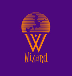 wizard witch logo sign symbol icon vector image
