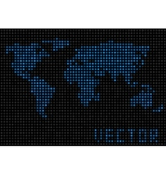 World map dots vector