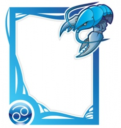 zodiac frame series cancer vector image