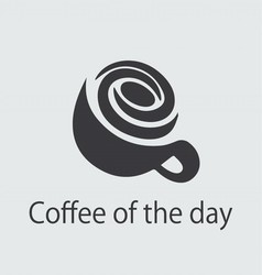 COFFE OF THE DAY LOGO vector image