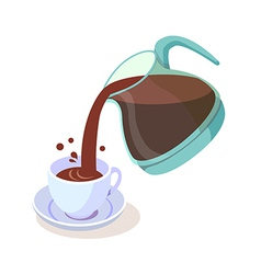 icon coffee vector image vector image
