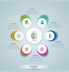 modern infographic design template circular vector image vector image