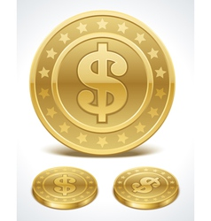 Money coins vector image vector image