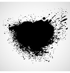 Paint stains black blotch background vector image