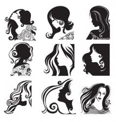 silhouette ladies vector image vector image