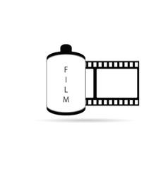 camera film icon vector image