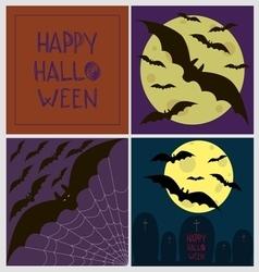 Halloween poster card set vector image