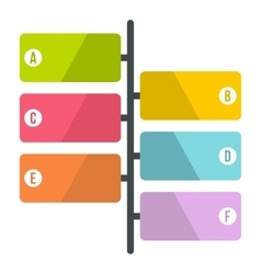 Scheme infographics flat style vector image