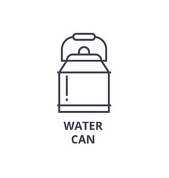 water can line icon outline sign linear symbol vector image