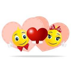 love Smileys vector image