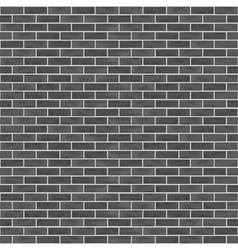 Seamless Black Brick Wall vector image