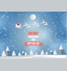 Winter season with snowflake and santa vector