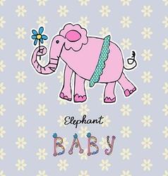 Abstract background children art elephant vector image vector image