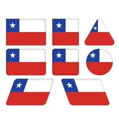 buttons with flag of Chile vector image