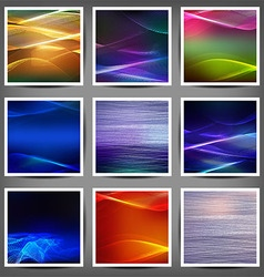 Set of blend abstract color wave vector image