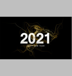 2021 inscription on background gold glitter vector image