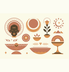 Abstract african ethnic decorative design elements vector