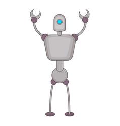 Abstract robot icon cartoon style vector