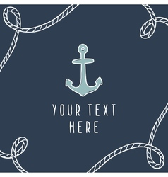 Anchor greeting card template vector image