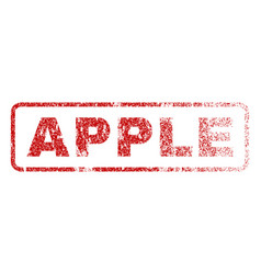 Apple rubber stamp vector