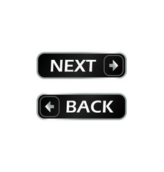 back and next buttons vector image