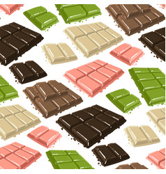 Bars chocolate with different tastes seamless vector