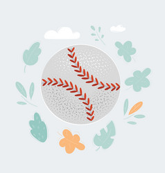 baseball ball isolated on vector image