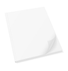 blank template cover of book booklet brochure vector image