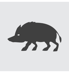 Boar icon vector image