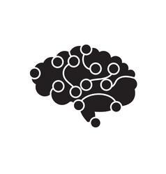 brain power black concept icon brain power vector image
