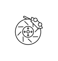 Brake wheel icon can be used for web logo mobile vector