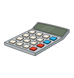 calculator colored doodle style vector image