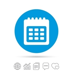 Calendar sign icon Date or event reminder vector