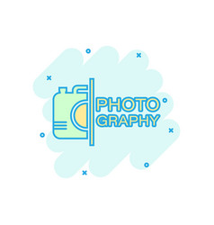 Camera device sign icon in comic style vector