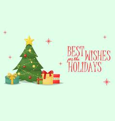 christmas card xmas greeting decoration holiday vector image