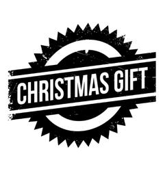 Christmas gift stamp vector image