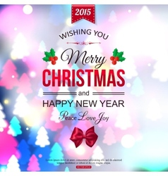 Christmas shining typographical background vector