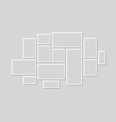 collection of black frames picture frame vector image