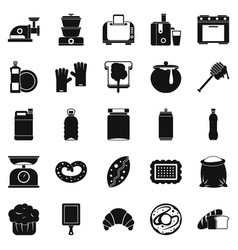 Cooking icons set simple style vector