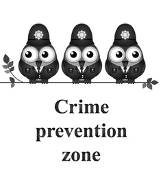 Crime Prevention Zone vector image