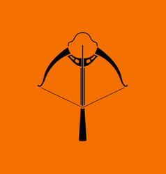 Crossbow icon vector