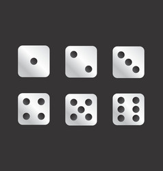 Dice faces vector