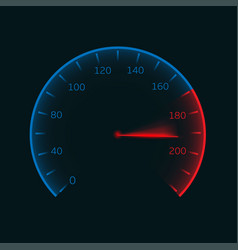 Digital speedometer vector