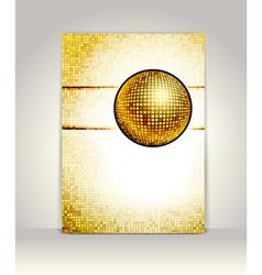 disco card vector image