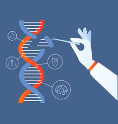 dna engineering genome crispr cas9 gene mutation vector image